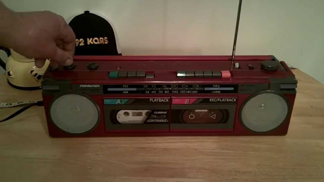 Vintage 80's SOUNDESIGN boombox GHETTO by WornAndFadedSupply