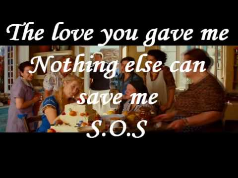 Mamma Mia - SoS video with Lyrics on screen