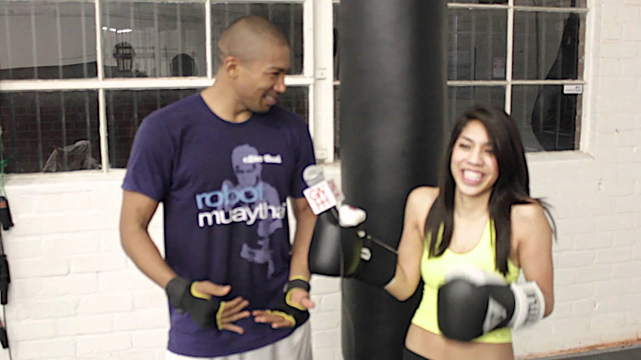 charles michael davis muay thai lesson and interview youtube