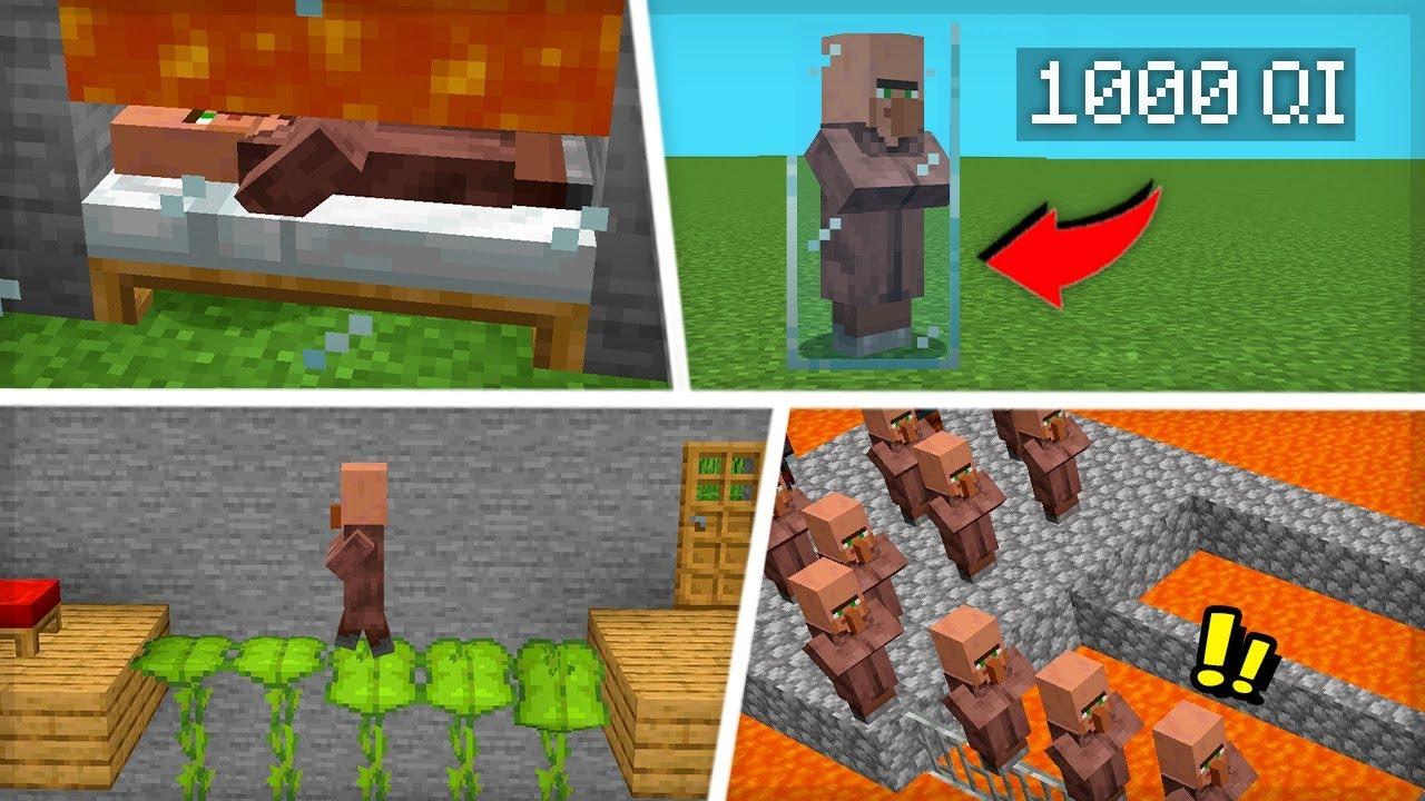 10 COISAS QUE OS ALDEÕES FAZEM E VOCÊ NÃO SABE - Minecraft