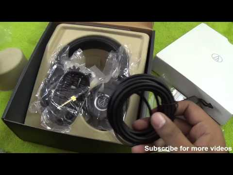 Audio Technica ATH M40X Unboxing - Indian Retail Unit