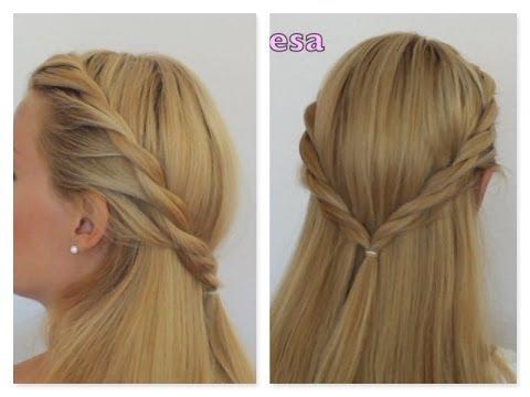 Peinado semirecogido de lado paso a paso