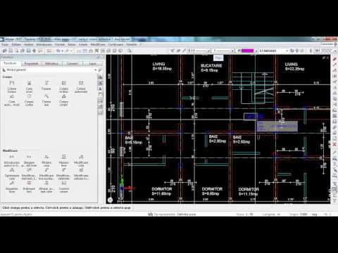 6 Import DWG si creare structura de cladire