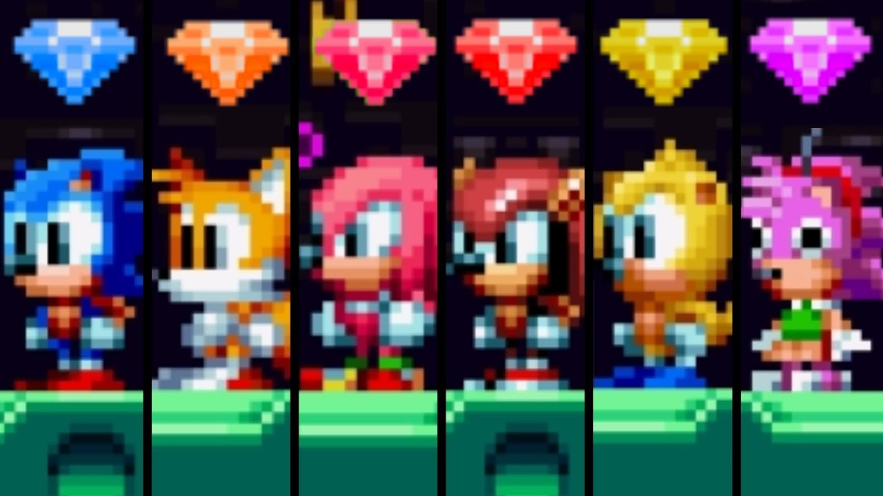 Sonic Mania Plus All Baby Characters Super Forms Youtube