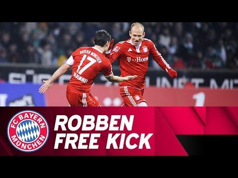 Arjen Robben Scores Magical Free Kick on his Birthday! 🎁
