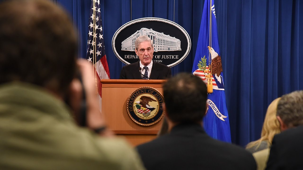 Hasil gambar untuk Special Counsel Robert S. Mueller III Makes Statement on Investigation into Russian Interference