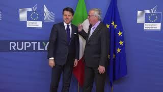 Belgium: Italian PM Conte meets Juncker to discuss Italy