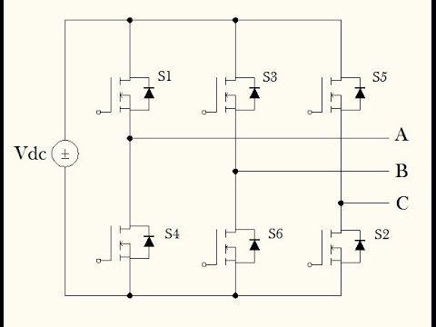 Six Step Voltage Source Inverter Part I Circuit