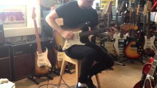 1965 fender stratocaster with 1963 vox ac30
