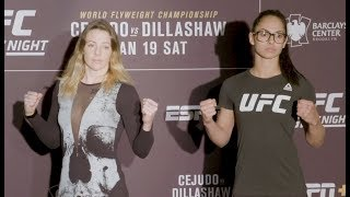Joanne Calderwood vs. Ariane Lipski - Media Day Face-Off - (UFC Fight Night: Cejudo vs. Dillashaw)