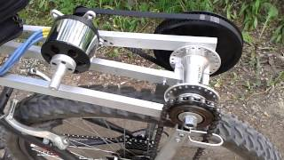 Электровелосипед своими руками v2.0(Электровелосипед на базе TowerPro5330-9T Brushless Motor. Версия 2.0 с использованием зубчатой ременной передачи. Статья..., 2013-06-05T18:30:18.000Z)