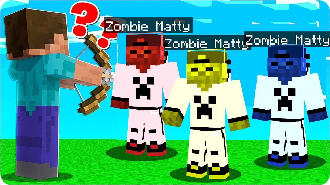 WHICH ONE Is The REAL ZOMBIEMATTY?! (Minecraft Guess Who)