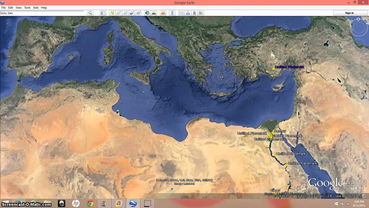 The Mediterranean Monolith The Flood Of Noah YouTube - Us navy flood map