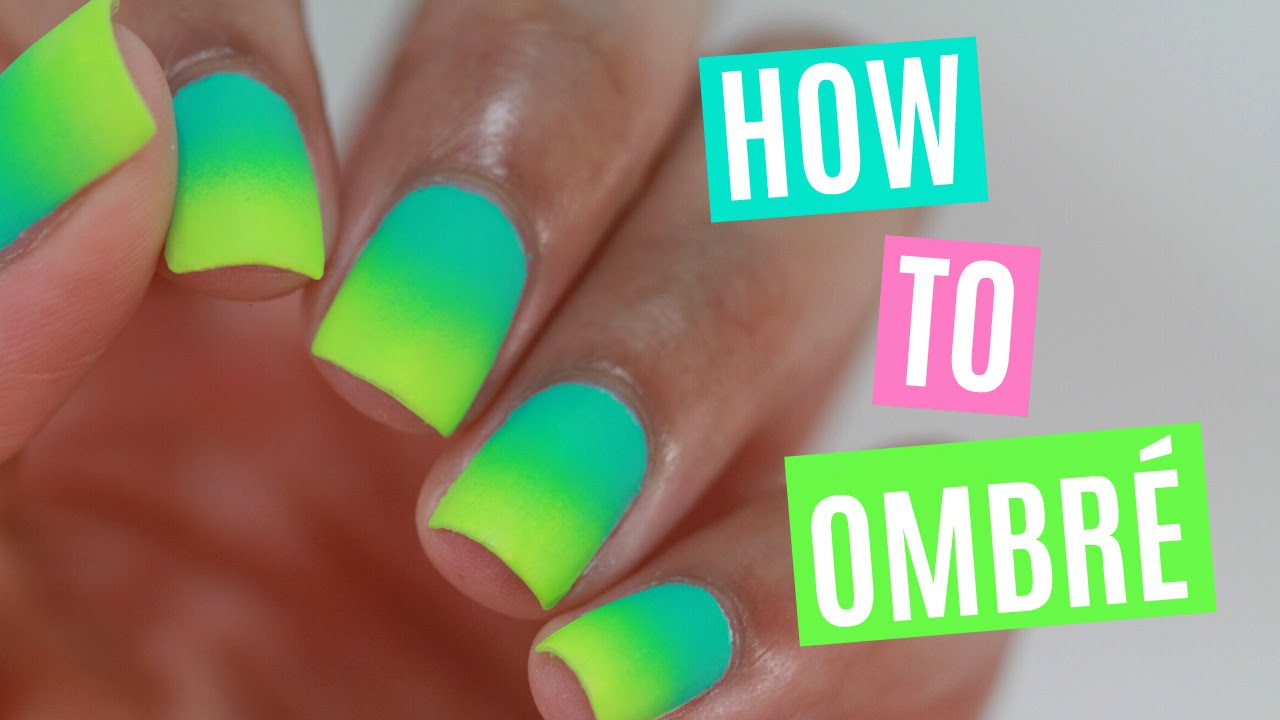 How To Do Ombré Nails Youtube
