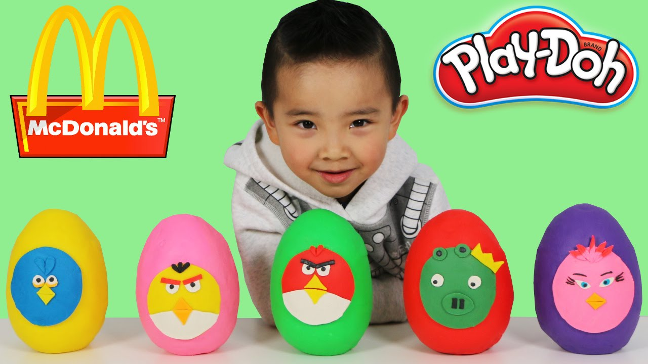 Mcdonalds Happy Meal Toys Angry Birds Play Doh Surprise