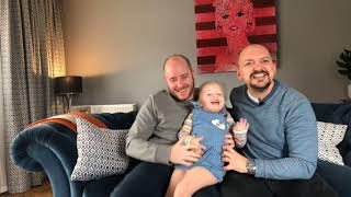TwoDads  Michael and Wes reveal the sex of their Baby LIVE with Talulah! (March 2019)