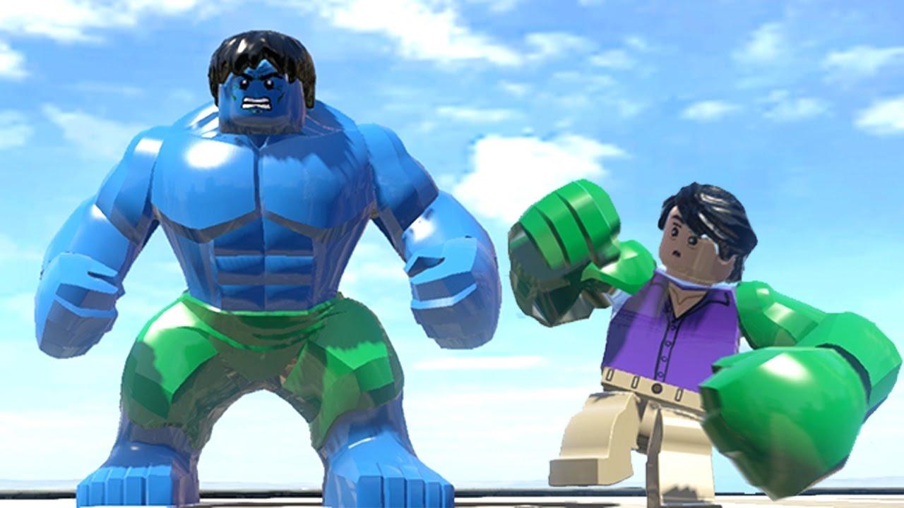 blue hulk vs green hulk transformation lego marvel