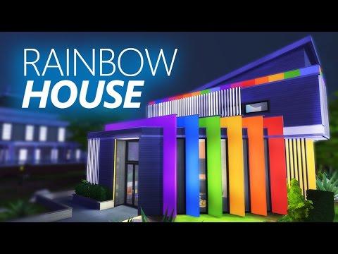 The Sims 4 Build   RAINBOW HOUSE