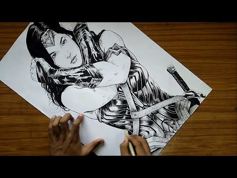 Drawing Wonder Woman || Gal Gadot