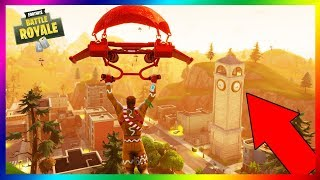 I'm DESTROYING THE CLOCK OF TILTED TOWERS BUT IT's NOT LIKE !!! Fortnite Battle Royale