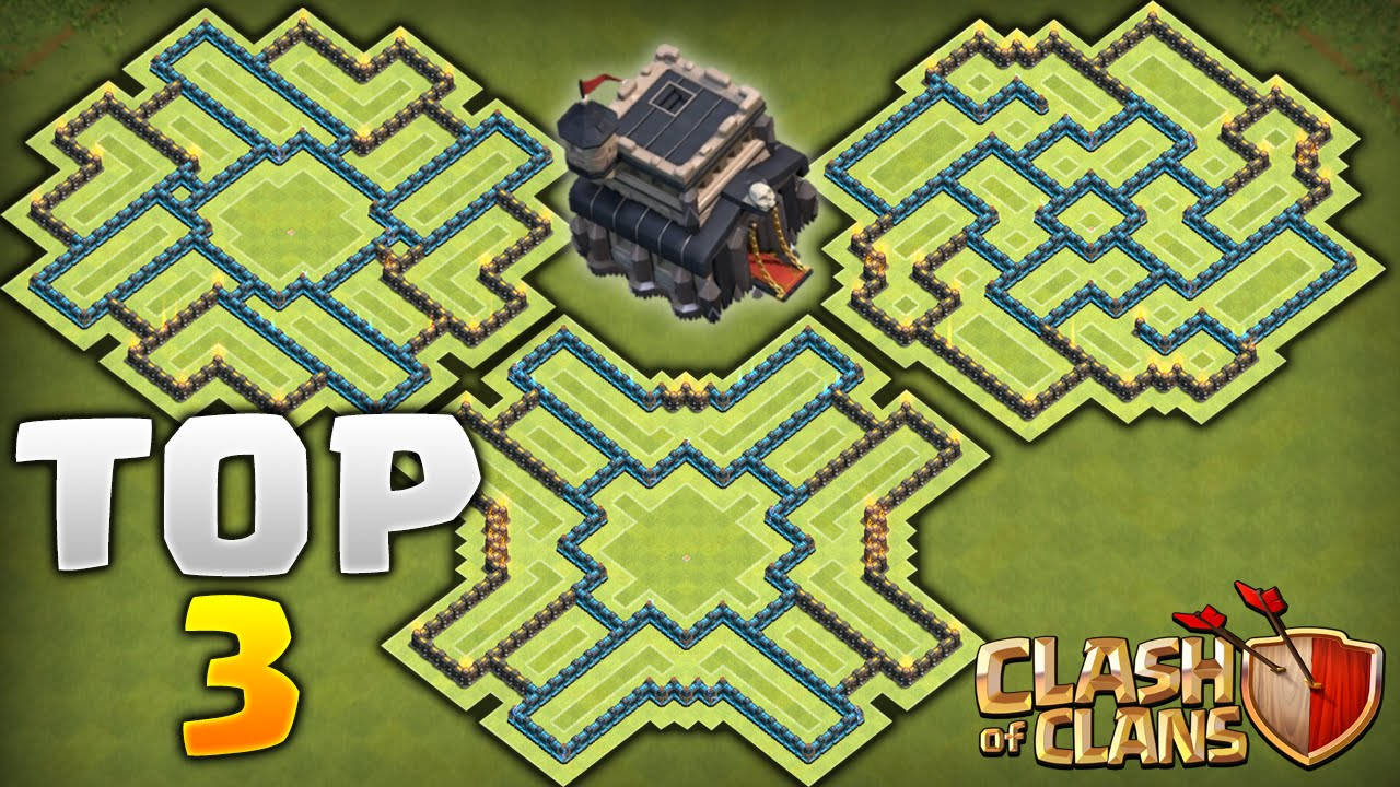 Clash of clans top 3 best townhall 9 farming bases never lose your
