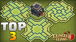 Clash Of Clans - TOP 3 BEST TOWNHALL 9 FARMING BASES! Never Lose Your Resources!