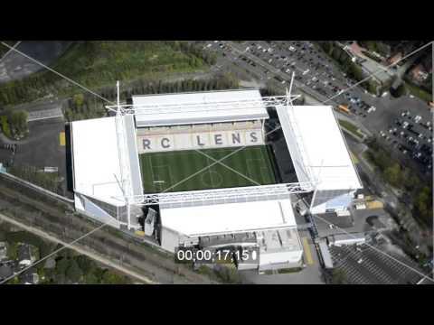 Stade Bollaert-Delelis in Lens in Nord-Pas-de-Calais Picardie, Frankreich