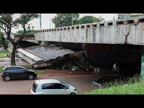 Brazil: Road collapses in central Brasilia