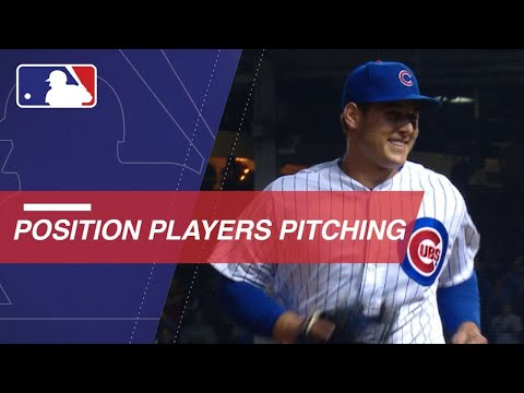 Position players pitching in the 2018 season