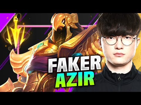 Faker Destroying with Azir vs RNG Xiaohu! - T1 Faker Plays Azir vs Xiaohu Akali Mid | KR SoloQ 10.15