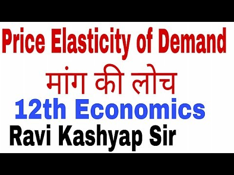 12th Economics Hindi Price Elasticity Of Demand Percentage