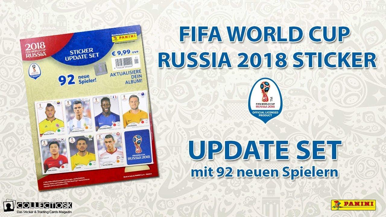 fc3fcc959 Panini FIFA World Cup Russia 2018 Sticker - UPDATE SET - YouTube