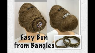 3 Easy Bun Hairṡtyles from Bangles: Beautiful Easy Hairstyles