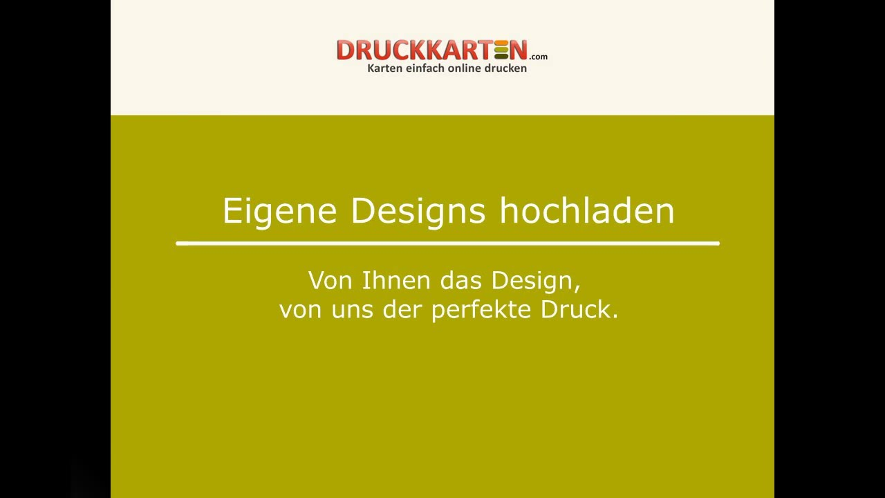 Druckkarten Com Eigene Designs Hochladen
