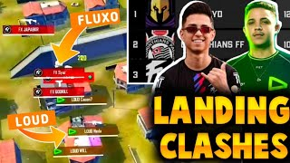 LOUD🤣 VS FLUXO 😡 -LANDING CLASHES IN LBFF - CONTROVERSIAL FIGHT