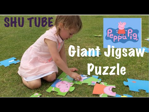 Peppa Pig Puzzle & Colour Toys R Us | Peppa Pig Jumbo Jigsaw Puzzle Toy Review and Unboxing