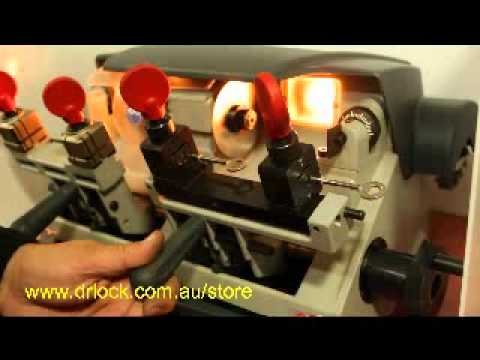 Silca Key Machine Duo Locksmith Key Cutting Tool flv - YouTube