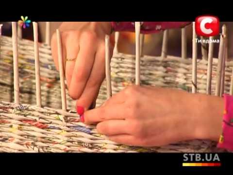 Плетем корзины из