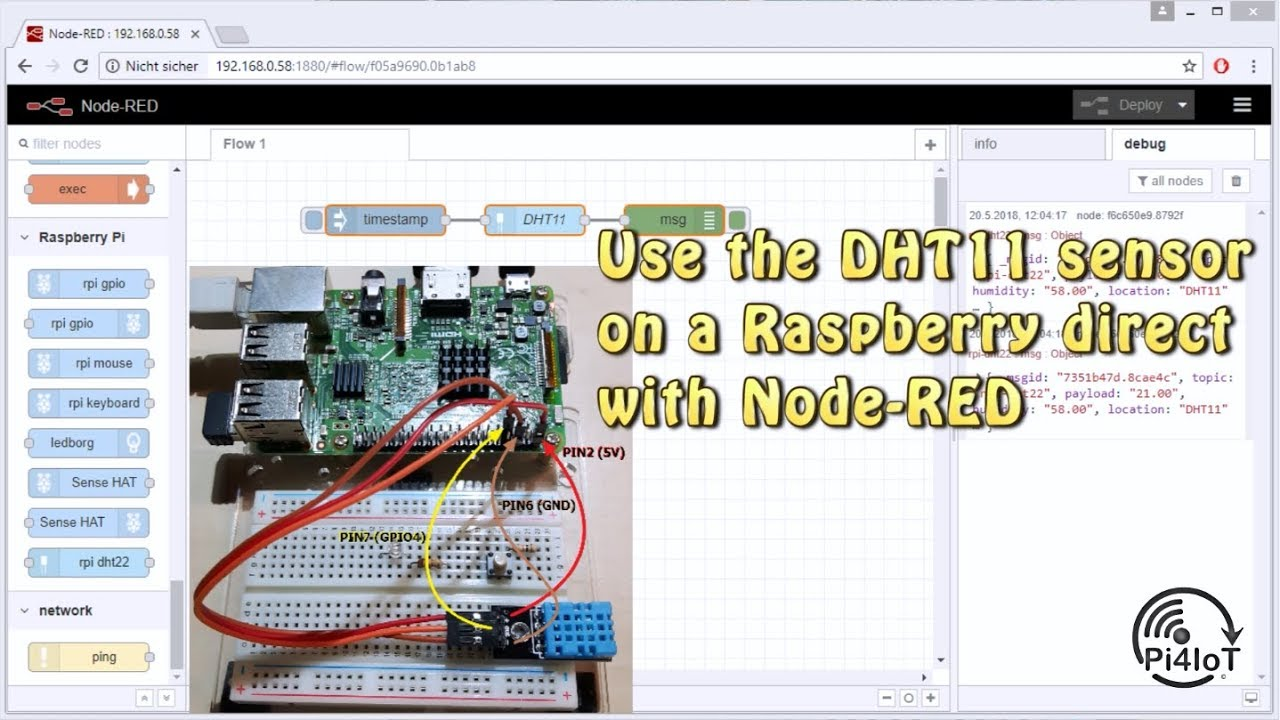 DHT11 Sensor with Node-RED Part #1 – Install the necessary program