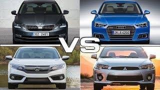 Skoda Octavia vs Audi A4 vs Honda Civic vs Mitsubishi Lancer