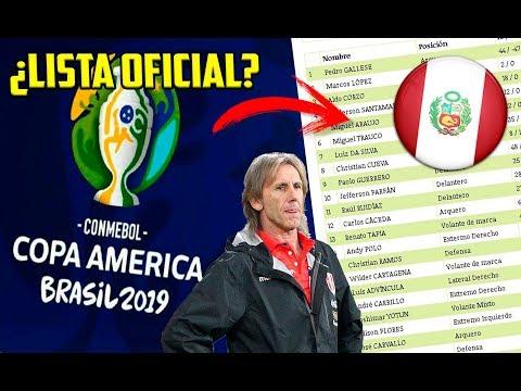 ¡NO HABRÁ CAMBIOS! Esta sería la lista de convocados de PERÚ para la COPA AMERICA BRASIL 2019