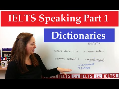 IELTS Speaking Part 1 New Topics: Dictionaries