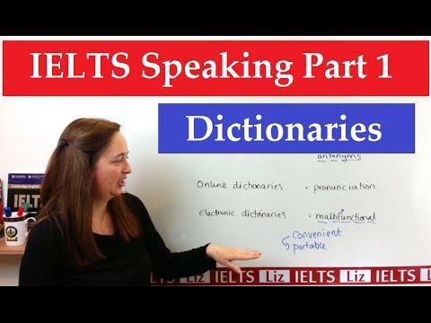 IELTS Speaking Part 1 New Topics: Dictionaries