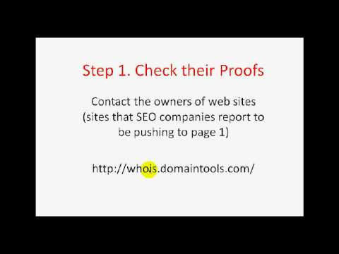 How to Choose a SEO Company - Part 1