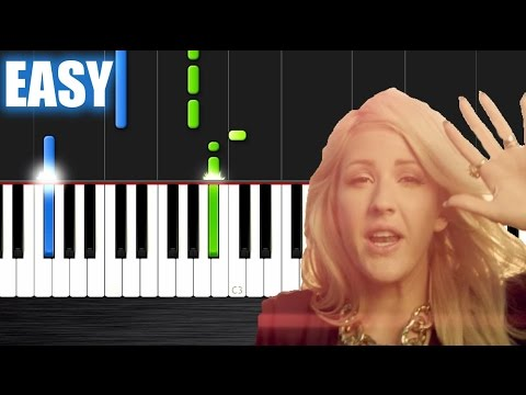 Ellie Goulding - Burn - EASY Piano Tutorial by PlutaX