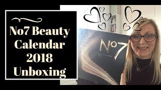 No7 Beauty Advent Calendar 2018 Unboxing | Beauty Over 40