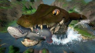 PLAYING AS THE HUGE, SECRET CROCODILE!!! - Fish Feed Grow | HD