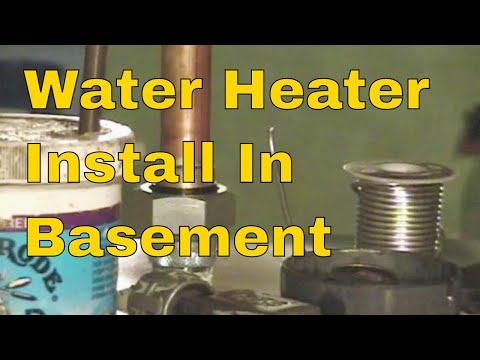 water heater install in basement 2 of 12