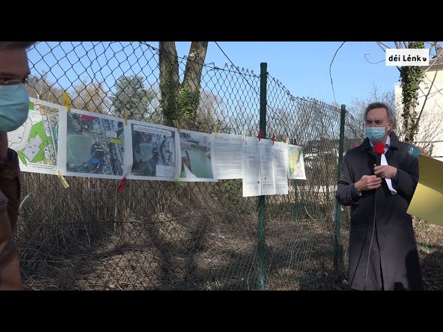 Pressekonferenz vun déi Lénk mam stater Gemengerot Guy Foetz