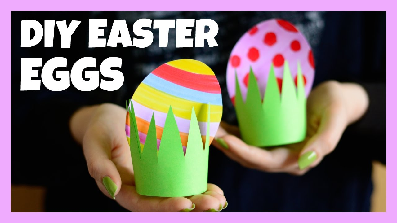 Paper Easter Egg Craft Easter Crafts For Kids Youtube